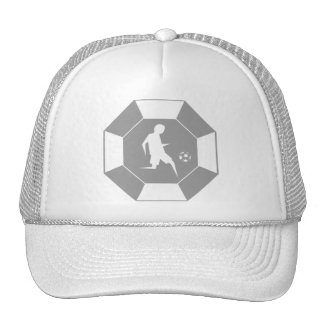 stop_line_soccer_grey trucker hat