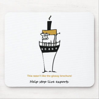 Stop Live Exports Mouse Pad