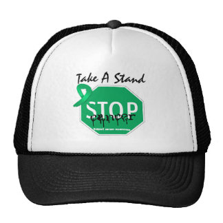 Stop Liver Cancer Take A Stand Trucker Hat