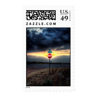 STOP!!! Look at that Sunset!! Postage Stamps
