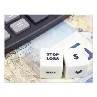 "Stop loss Canadian dollar 8.5"" X 11"" Flyer"