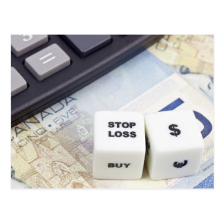 Stop loss Canadian dollar Postcard