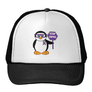Stop Lupus: Penguin with Sign Trucker Hat