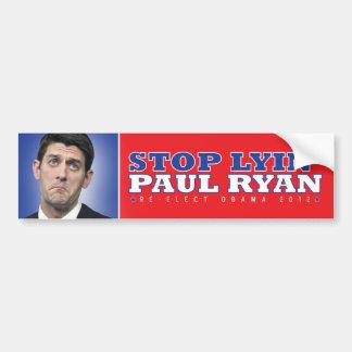 Stop Lyin' Paul Ryan Bumpersticker Bumper Sticker