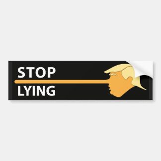 Stop Lying (on black) Bumper Sticker