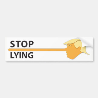 Stop Lying (on white) Bumper Sticker