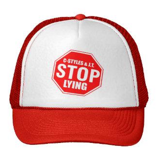 STOP LYING TRUCKER HAT
