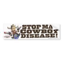 Stop Mad Cowboy Disease Bumper Sticker