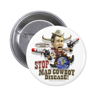 Stop Mad Cowboy Disease Button