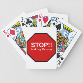 Stop!! Making Excuses Playing Cards