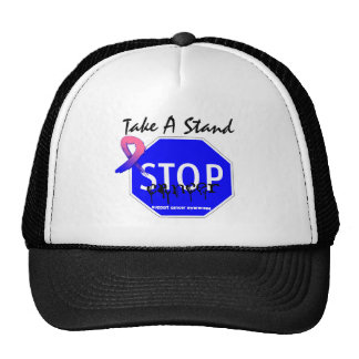 Stop Male Breast Cancer Take A Stand Trucker Hat