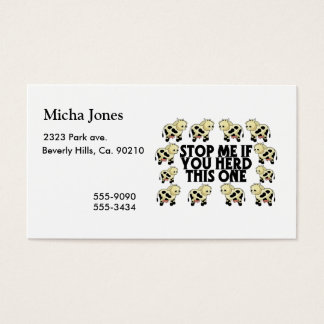 Stop Me If You Herd This One Business Card