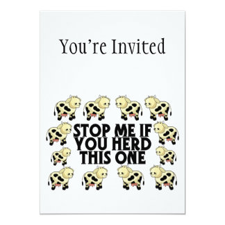 Stop Me If You Herd This One 5x7 Paper Invitation Card