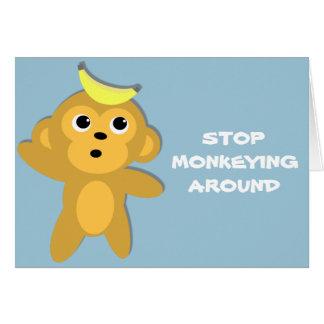 Stop Monkeying Around Valentine Card