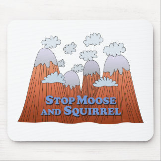 Stop Moose and Squirrel - Dark Mouse Pad
