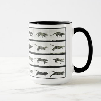 Stop Motion Cheetah Running Mug