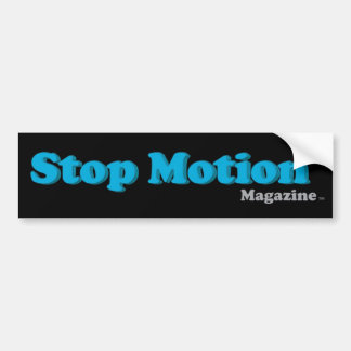 Stop Motion Magazine Bumper Sticker