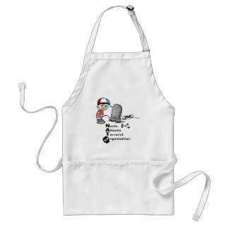Stop NATO War Machine Funny Drawing Adult Apron