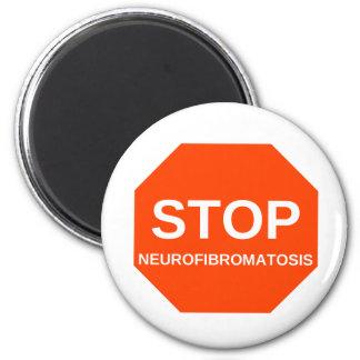 STOP neurofibromatosis 2 Inch Round Magnet