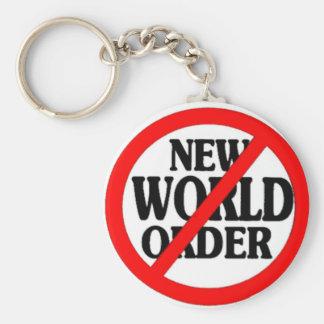 STOP NEW WORLD ORDER KEYCHAIN