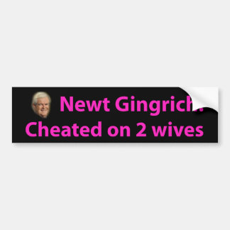 Stop Newt Gingrich! Bumper Stickers
