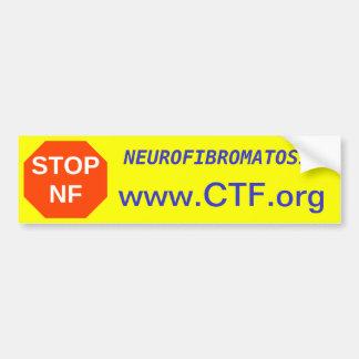 STOP NF, www.CTF.org, NEUROFIBROMATOSIS Bumper Sticker