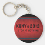 Stop @ Nothing Basic Round Button Keychain