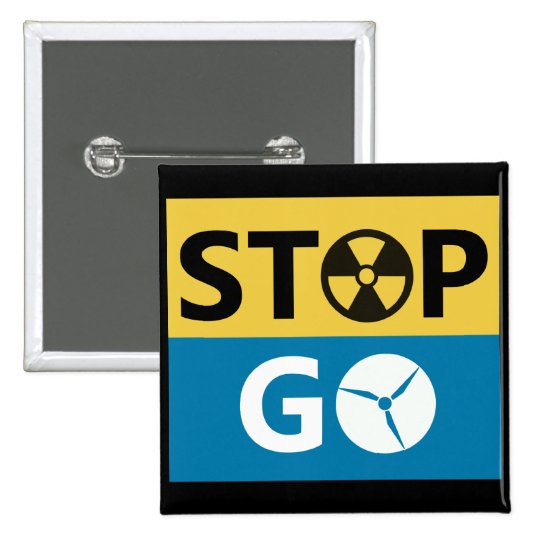 Stop Nuclear Pinback Button