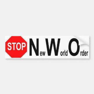Stop NWO bumper sticker Car Bumper Sticker
