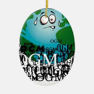 Stop O.G.M. Ceramic Ornament
