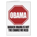 Stop Obama Greeting Card