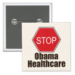 Stop Obama Healthcare Button