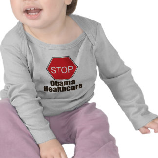 Stop Obama Healthcare Infant Long Sleeve Tee Shirt