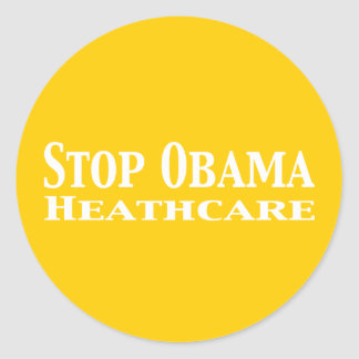 Stop Obama Healthcare Stickers