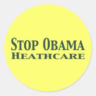Stop Obama Healthcare Round Sticker