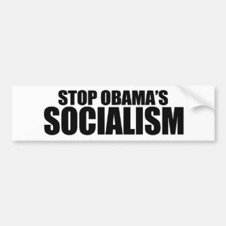 STOP OBAMA SOCIALISM BUMPER STICKER