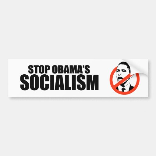 STOP OBAMA SOCIALISM CAR BUMPER STICKER