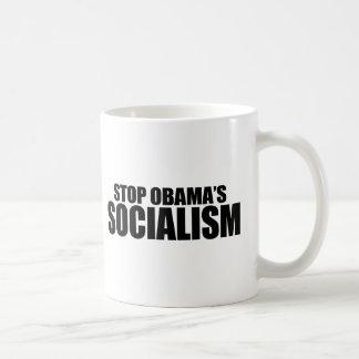 STOP OBAMA SOCIALISM CLASSIC WHITE COFFEE MUG