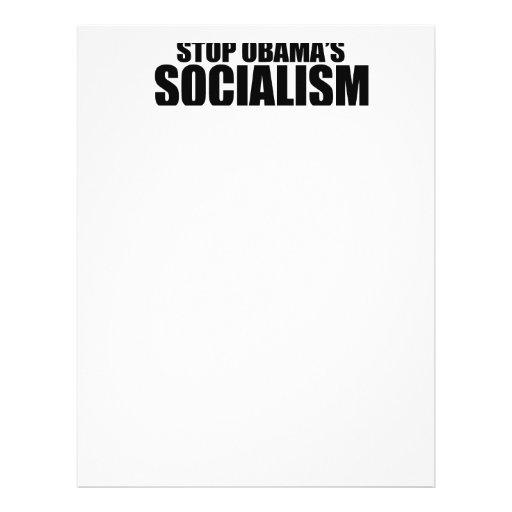 STOP OBAMA SOCIALISM LETTERHEAD DESIGN