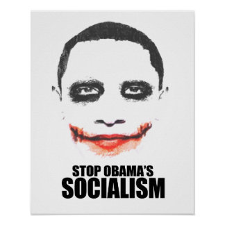 STOP OBAMA SOCIALISM POSTER
