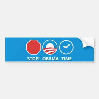 Stop! Obama Time Bumper Sticker