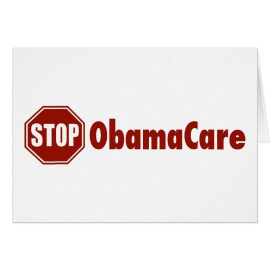 Stop ObamaCare Card
