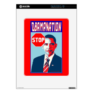 Stop Obamanation Pop Art Political Satire Product Skins For iPad
