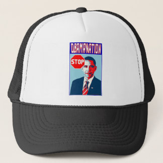 Stop Obamanation Pop Art Political Satire Product Trucker Hat