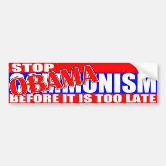 Stop Obamanism Bumper Sticker
