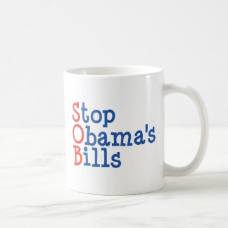 Stop Obama's Bills - from ruining our Country Coffee Mugs