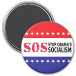 Stop Obama's Socialism - SOS 3 Inch Round Magnet
