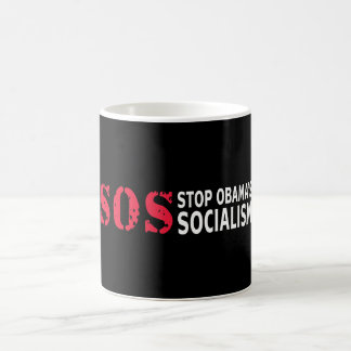 Stop Obama's Socialism - SOS Classic White Coffee Mug