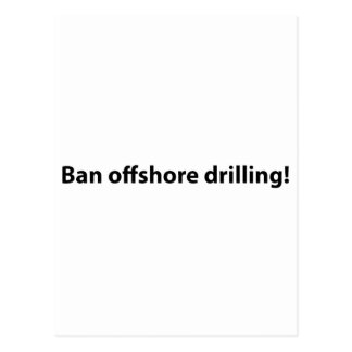 stop offshore drilling postcard