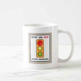 Stop on red Photo enforced Sign Coffee Mug